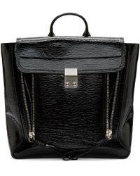 3.1 Phillip Lim - Black Patent Leather Pashli Backpack - Lyst
