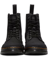Dr. Martens - Gray Combs 8-Eye Canvas Ankle Boots for Men - Lyst