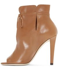 Jimmy Choo Brown Memphis 100 Soft Leather Ankle Bootie
