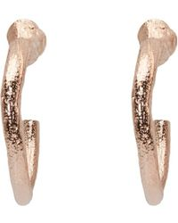 Pearls Before Swine - Metallic Ssense Exclusive Rose Gold Loop Earrings - Lyst