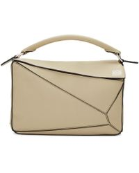 Loewe - Gray Puzzle Small Leather Shoulder Bag - Lyst