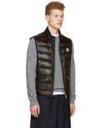 Moncler - Black Down Gui Vest for Men - Lyst
