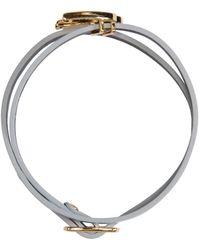McQ | Metallic Silver Swallow Mini Wrap Bracelet | Lyst
