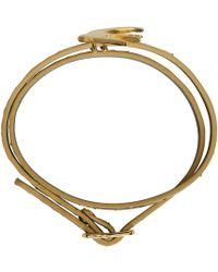 McQ   Metallic Gold Swallow Mini Wrap Bracelet   Lyst