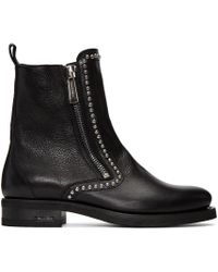 DSquared² | Black Studded Ankle Boots for Men | Lyst