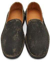 Maison Margiela - Black Washed Out Loafers for Men - Lyst