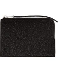 Rick Owens | Black Zippered Pouch | Lyst
