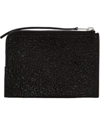 Rick Owens - Black Zippered Pouch - Lyst