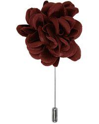 Lanvin | Red Burgundy Rose Tie Pin | Lyst