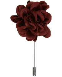 Lanvin | Red Burgundy Rose Tie Pin | Lyst