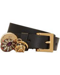 Alexander McQueen - Black Fly Double-wrap Bracelet - Lyst