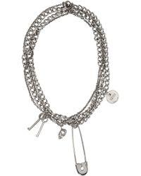 Alexander McQueen | Metallic Silver Pin & Skull Necklace for Men | Lyst