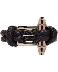Givenchy | Black Braided Obsedia Bracelet | Lyst