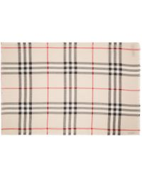 Burberry - Natural Beige Giant Check Scarf - Lyst