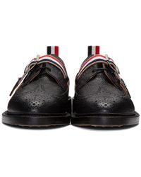 Thom Browne - Black Classic Longwing Strap Brogues for Men - Lyst