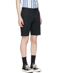 Maison Kitsuné - Blue Navy Jay Chino Shorts for Men - Lyst