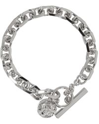 Versus  | Metallic Silver Lion Toggle Bracelet | Lyst