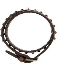 Valentino - Green Mini Stud Double-wrap Bracelet for Men - Lyst