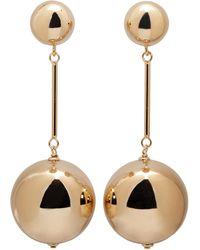J.W. Anderson | Metallic Gold Sphere Drop Earrings | Lyst