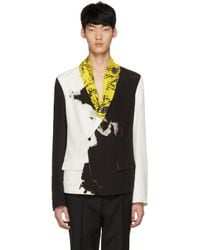 Haider Ackermann - Black Printed Shawl Jacket for Men - Lyst