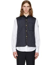 Moncler Gamme Bleu | Blue Navy Quilted Down Vest for Men | Lyst
