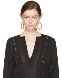 Isabel Marant - Orange Tube Earrings - Lyst