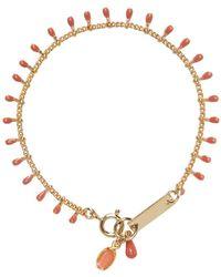 Isabel Marant - Metallic Gold Beaded Casablanca Bracelet - Lyst