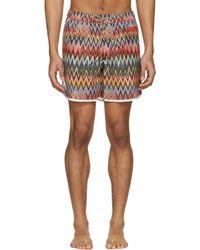 Missoni | Multicolor ' Mare' Zig Zag Swim Trunks for Men | Lyst