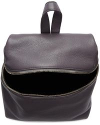 Kara | Gray Grey Small Leather Backpack | Lyst