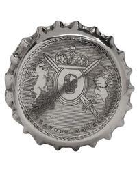 Alexander McQueen | Metallic Silver Cap Ring for Men | Lyst