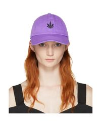 Palm Angels - Purple Vintage Weed Cap - Lyst