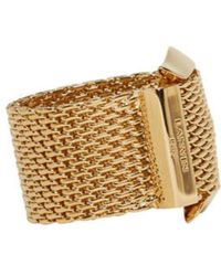 Lanvin - Metallic Gold Buckle Ring - Lyst