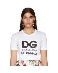 Dolce & Gabbana - Red Gold And White Heart Flower Earrings - Lyst