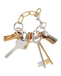 Balenciaga | Metallic Gold & Silver Multiple Key Bracelet | Lyst
