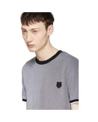 KENZO - Gray Grey Tiger Crest T-shirt for Men - Lyst