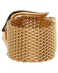 Lanvin - Metallic Gold Buckle Ring - Lyst