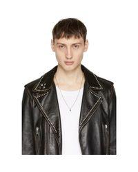 Emanuele Bicocchi - Metallic Silver Little Skull Necklace for Men - Lyst