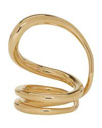 Charlotte Chesnais - Metallic Gold Round Trip Ring - Lyst