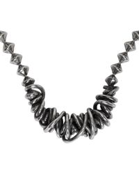 Emanuele Bicocchi - Metallic Silver Throttle Chain Necklace for Men - Lyst