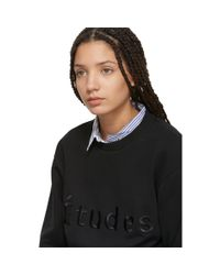 Etudes Studio - Black Logo Sweatshirt - Lyst