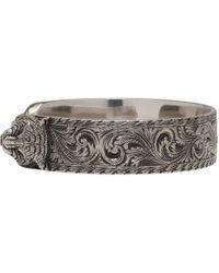 Gucci - Metallic Silver Feline Bracelet for Men - Lyst
