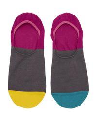 Paul Smith - Multicolor Multistripe No Show Socks for Men - Lyst