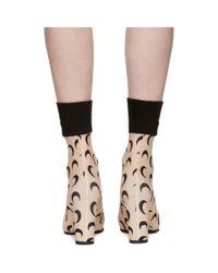 MARINE SERRE - Brown Tan All Over Moon Sock Boots - Lyst