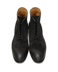 H by Hudson - Black Suede Yoakley Boots for Men - Lyst