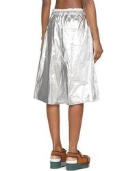Juun.J | Metallic Silver Foil Shorts | Lyst