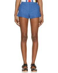 Marni - Mazarine Blue Cotton Shorts - Lyst