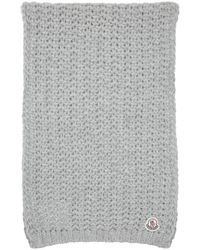 Moncler | Gray Grey Knit Scarf | Lyst