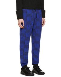 KENZO   Black & Blue Love Lounge Pants for Men   Lyst