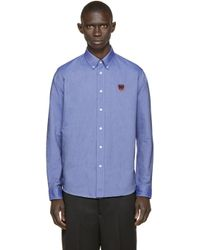 KENZO | Blue Tiger Logo Shirt for Men | Lyst