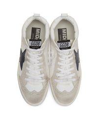 Golden Goose Deluxe Brand White Nylon Mid Star Sneakers for men